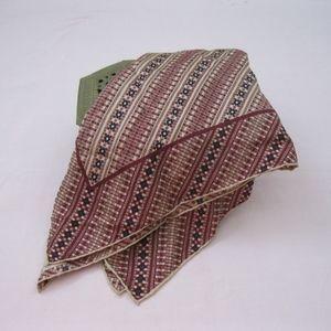 Vintage Echo scarf, navy/tan/burgundy, OS